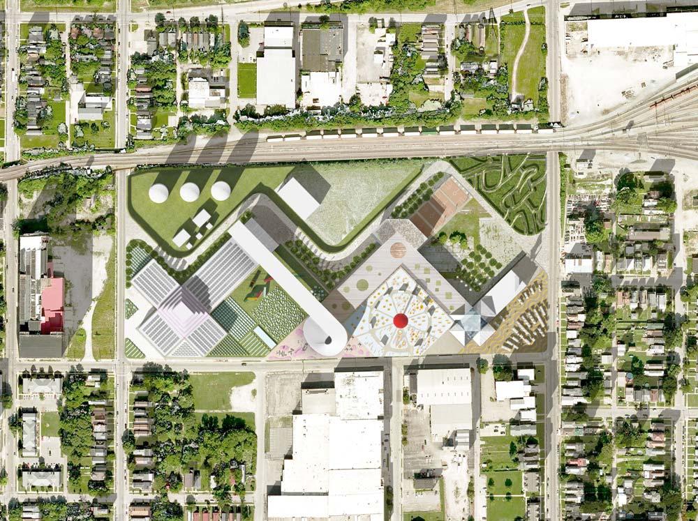 Food Port per Louiseville Ovest - Pianta della proposta di OMA