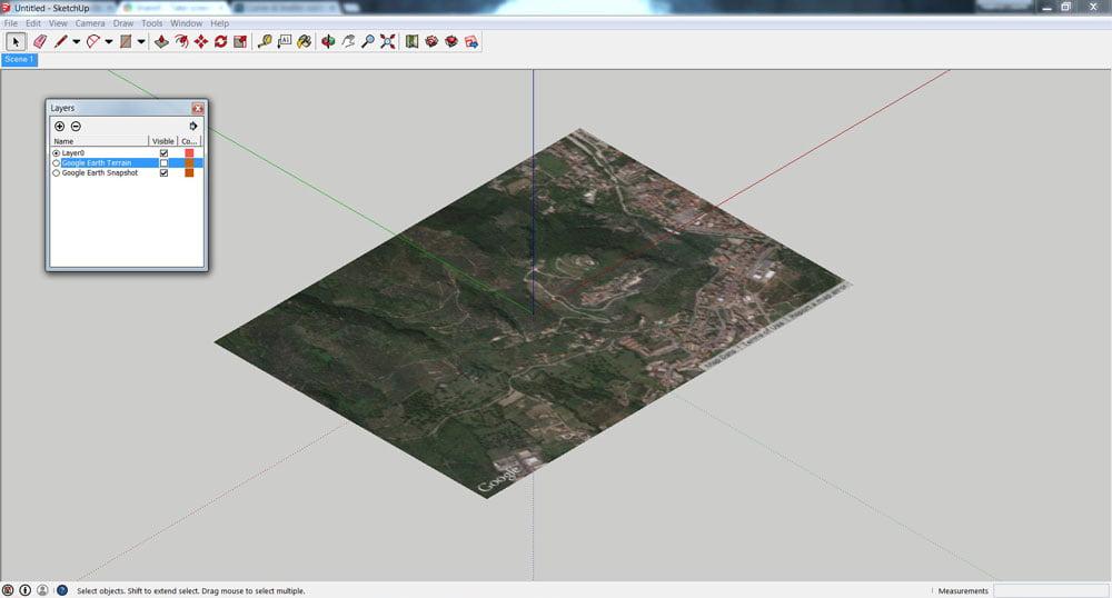 Questo è ciò che vedrai una volta che avrai importato i dati topografici.