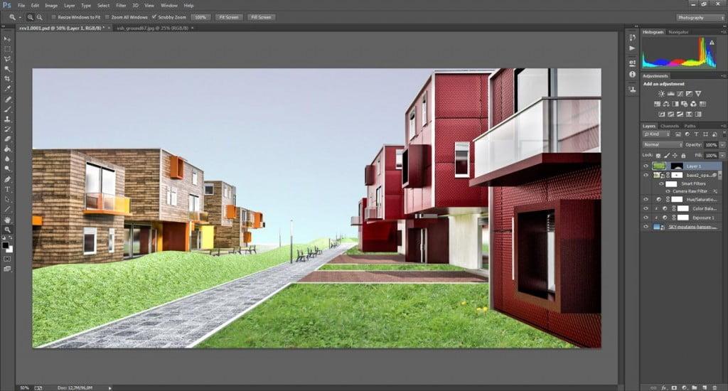 Come importare una texture di erba con Photoshop nei tuoi render.