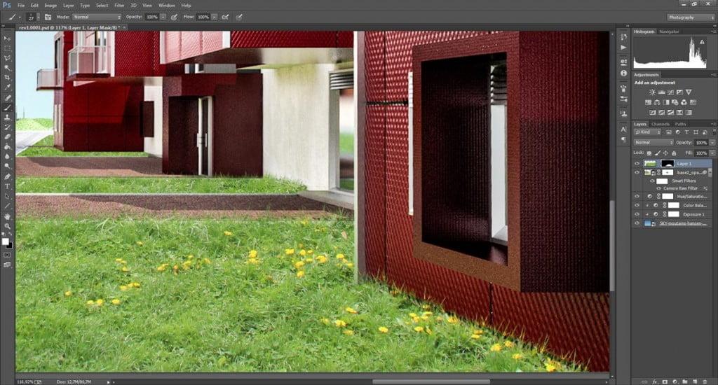 Simulare l'erba con Photoshop - il modo corretto di usare i pennelli d'erba.