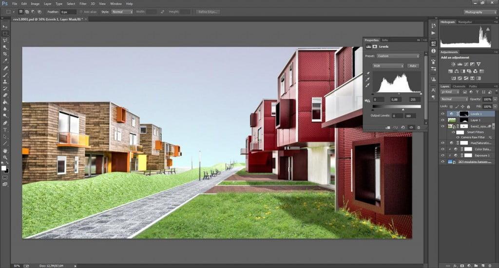 Come ripristinare l'ombra sull'erba in Photoshop nei render