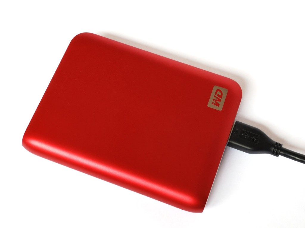 Hard disk portatile.