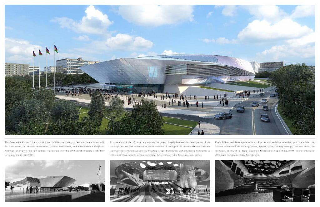 Portfolio di Monty de Luna - Baku Convention Centre, Coop Himmelb(l)au