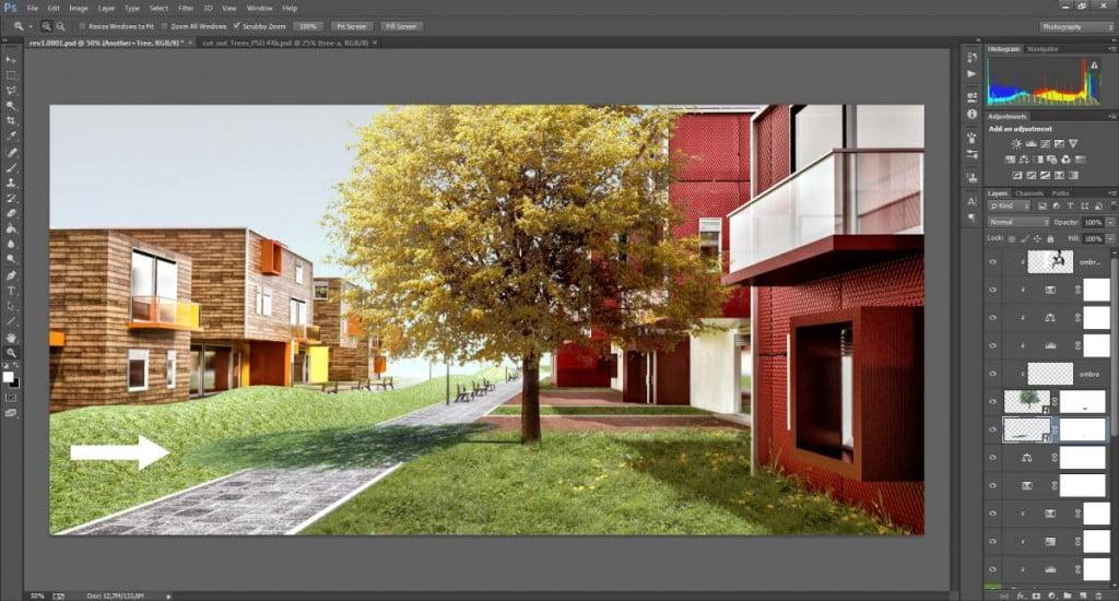 Realizzare l'ombra di un albero scontornato - step 1
