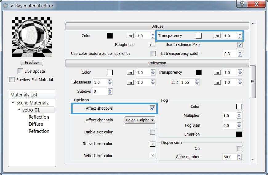 Cambiare colore sfondo 3ds max