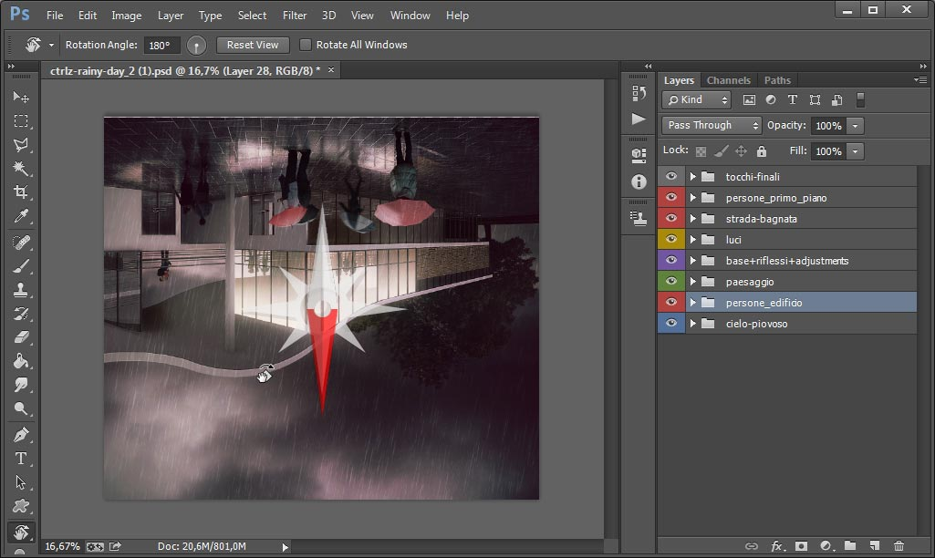 Ruotare un'immagine in Photoshop senza scomodare menu e guastare i layer? Si può!