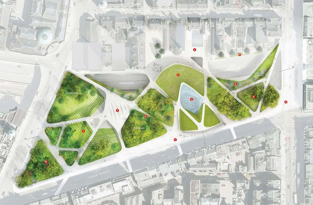 Pianta per gli Aberdeen City Gardens, Diller Scofidio + Renfro