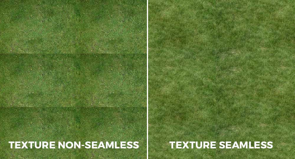Differenza tra texture seamless e non seamless.
