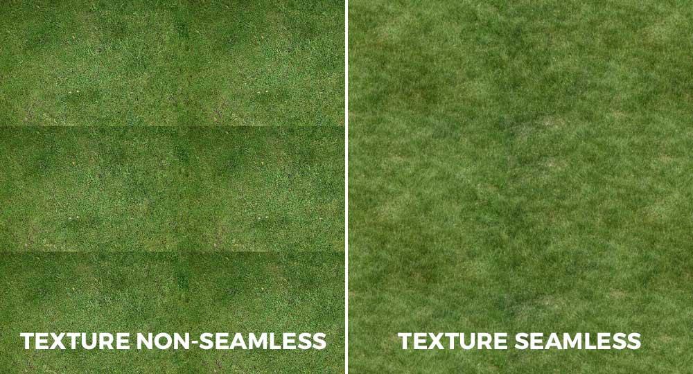 Differenza tra texture seamless e non seamless.
