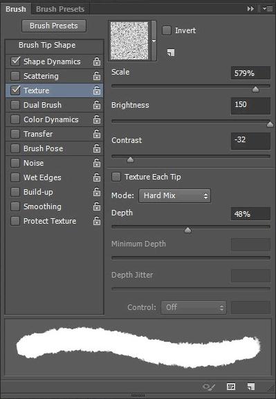 La scheda Texture dalle opzioni del tool Brush.
