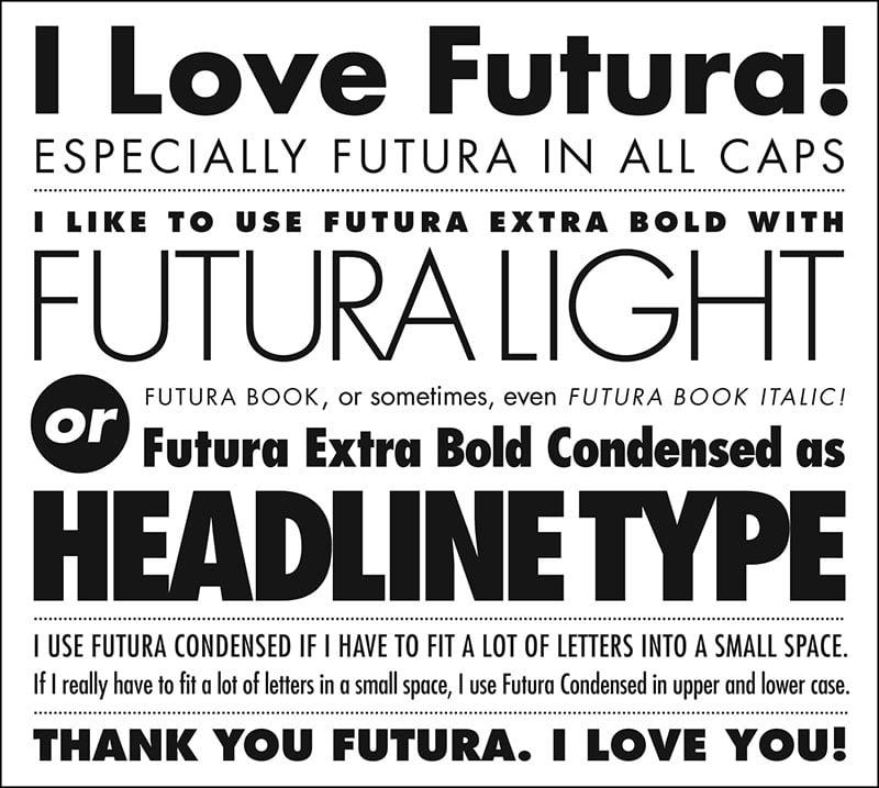 Futura: un font per l'architettura (e non solo!) intramontabile.