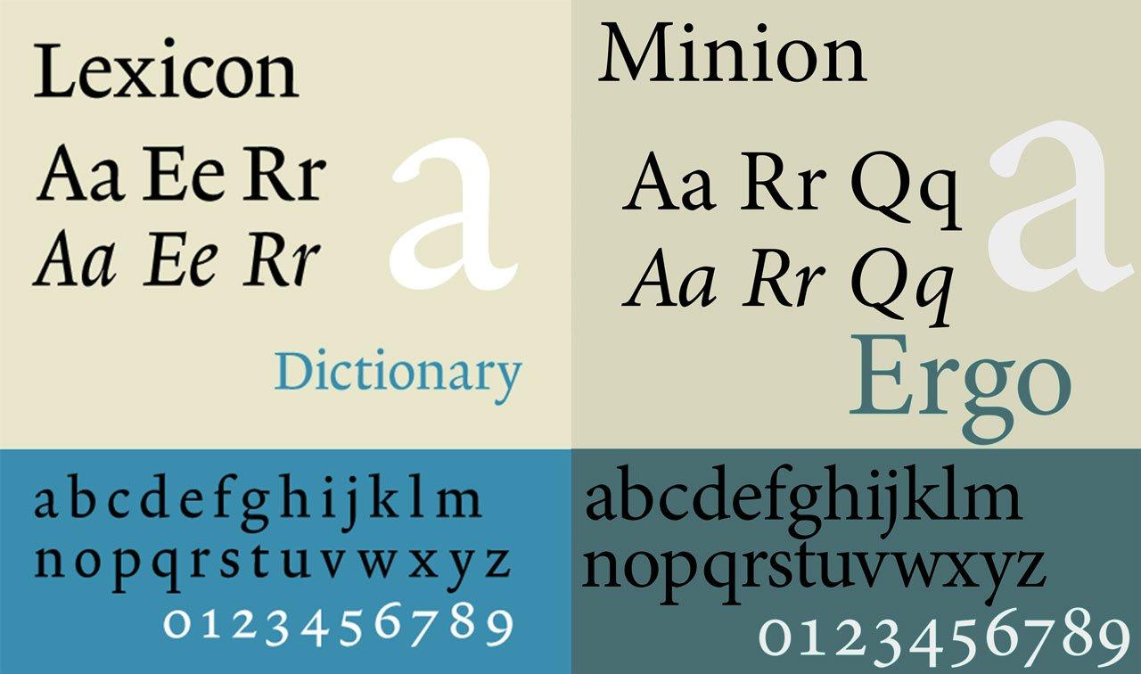 Lexicon e Minion: può un serif andar bene come font per l'architettura?