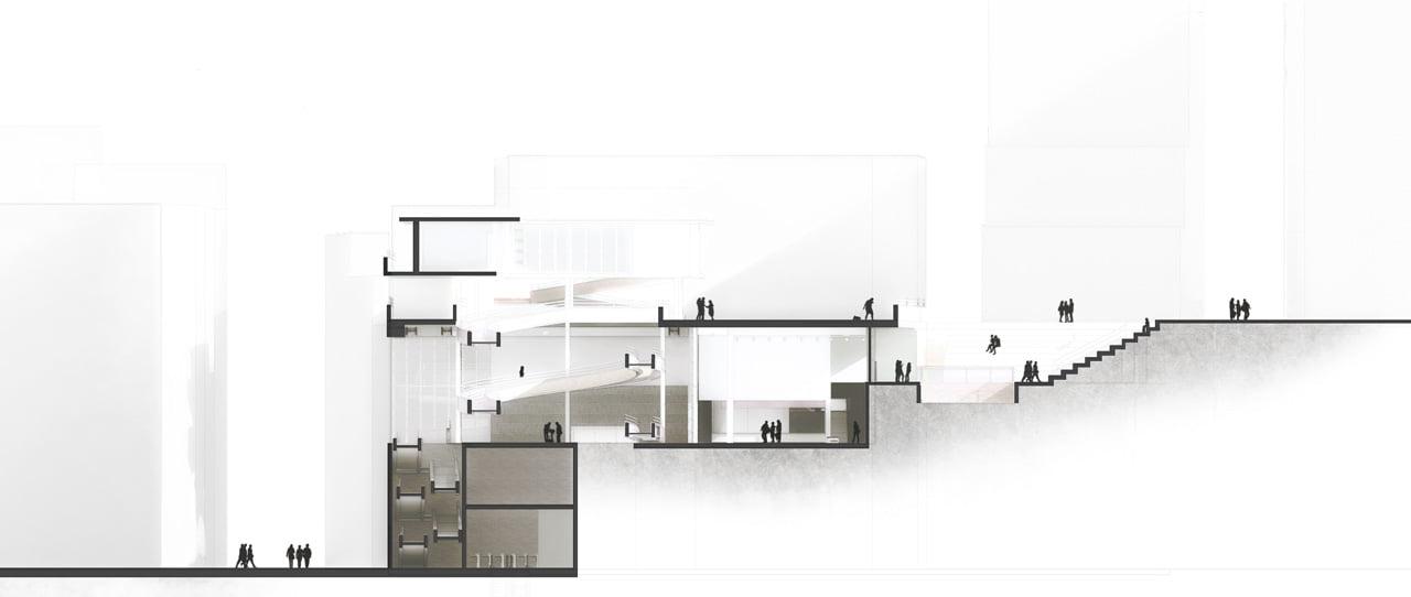 Usare correttamente le figure in scala e l'opacità del disegno in una sezione architettonica