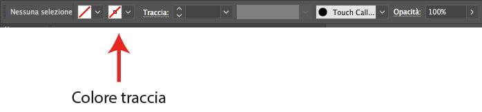La barra delle opzioni superiore di Adobe Illustrator
