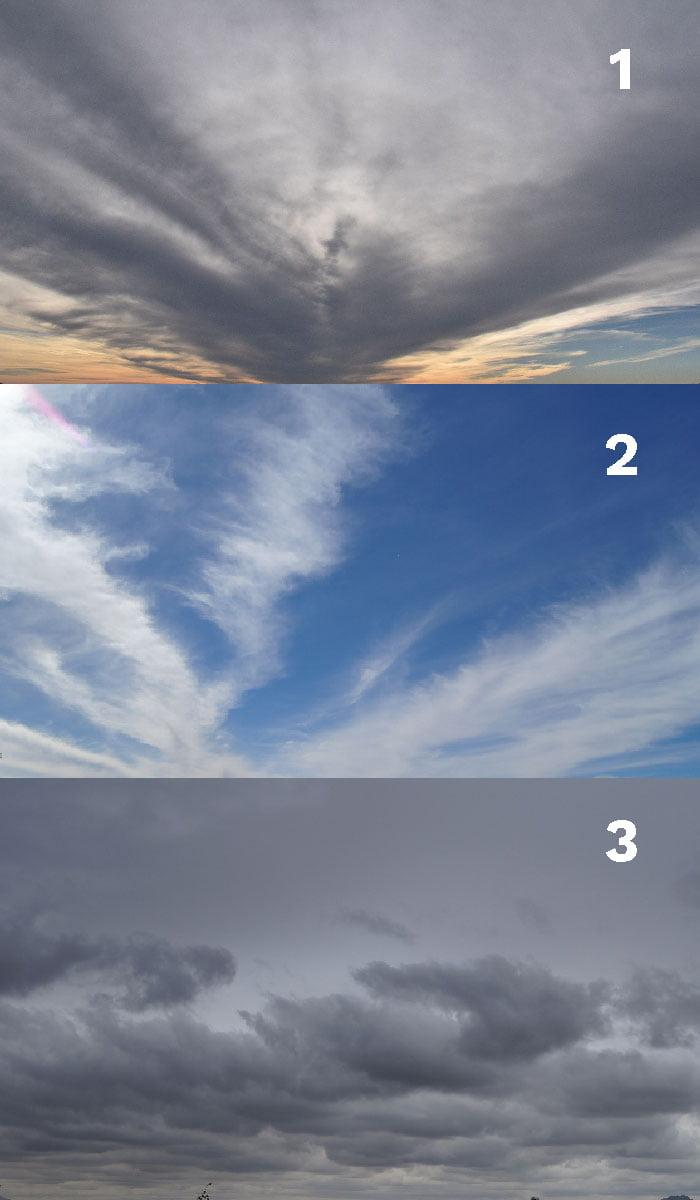 Le foto utilizzate per realizzare il cielo del caso studio.