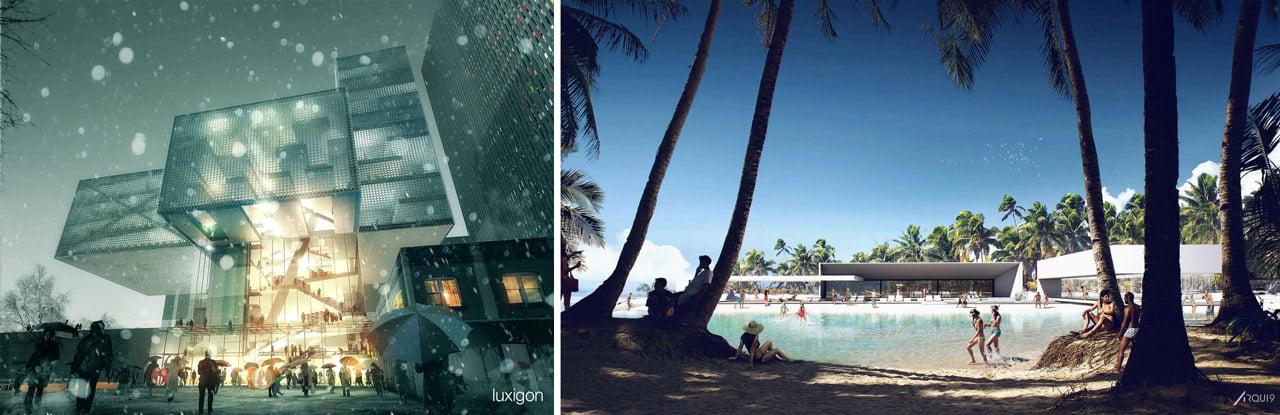 Due lavori a confronto: Luxigon e Arqui9