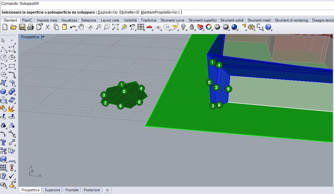 Il comando SviluppaSrf di Rhinoceros: utilissimo nel fare un plastico architettonico!