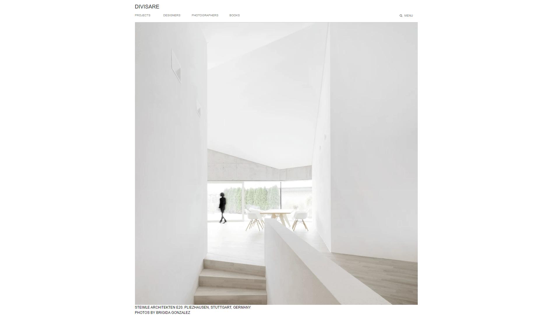Divisare, sito di architettura nato da una costola di Europaconcorsi nel 2015.